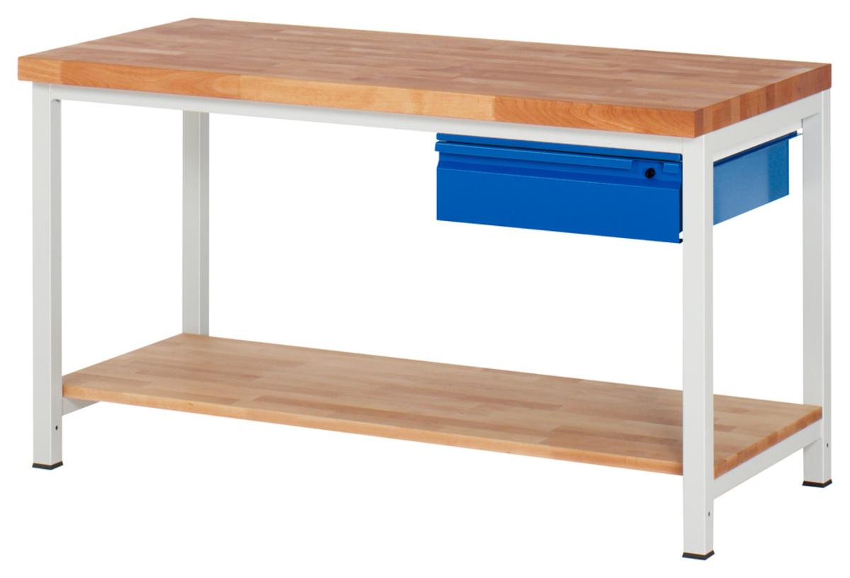 rau werkbank buche arbeitsplatte buche ablageboden 1. Black Bedroom Furniture Sets. Home Design Ideas