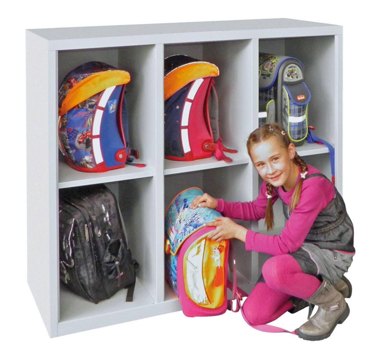 schrank f r taschen und schulranzen breite 1230 mm. Black Bedroom Furniture Sets. Home Design Ideas