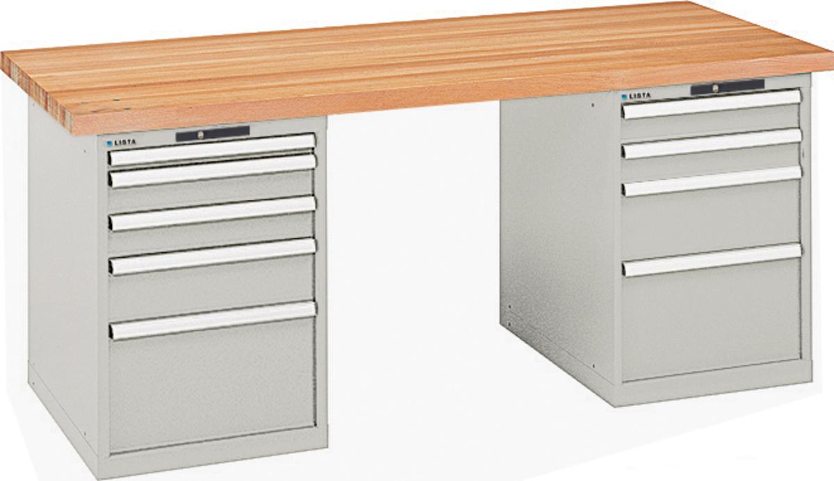 lista werkbank multiplex arbeitsplatte 5 schubladen. Black Bedroom Furniture Sets. Home Design Ideas