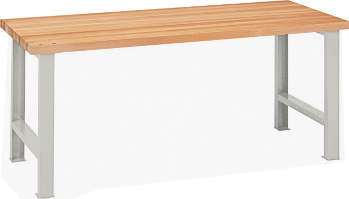 Lista werkbank buche arbeitsplatte ohne schubladen for Buche arbeitsplatte