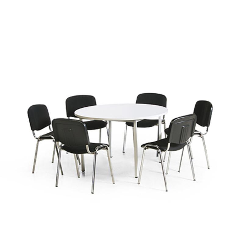 konferenz tisch stuhl kombination 1 runder tisch 1200. Black Bedroom Furniture Sets. Home Design Ideas