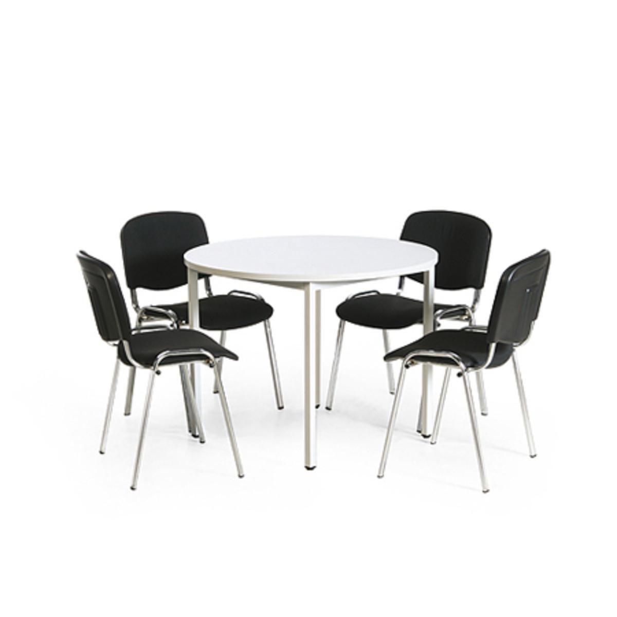 Konferenz Tisch Stuhl Kombination 1 Runder Tisch O 1000 Mm 4 Stuhle