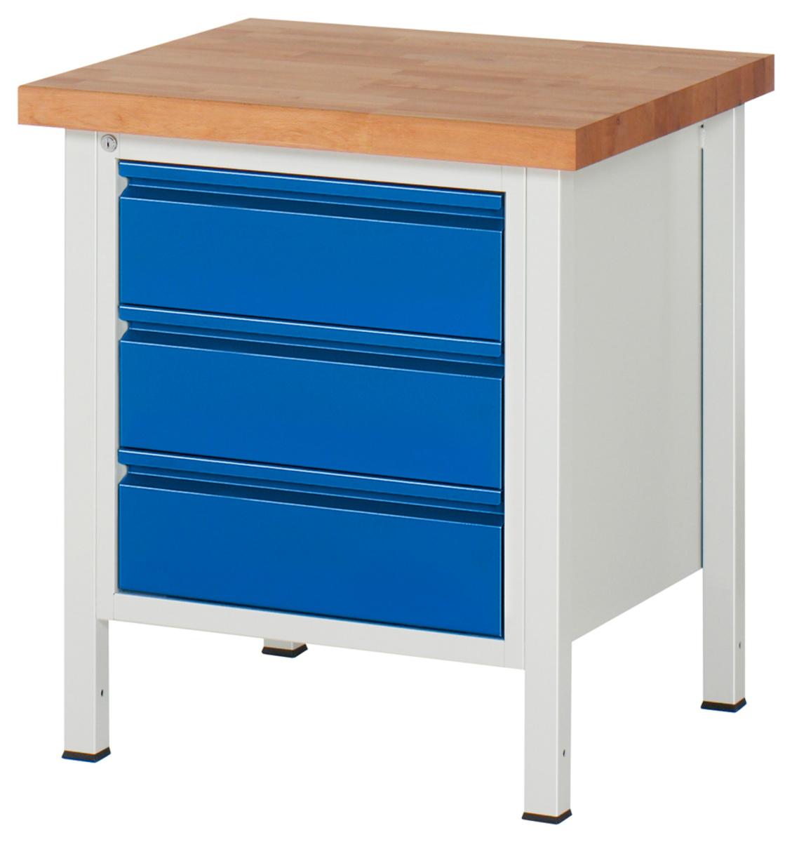 rau werkbank buche arbeitsplatte 3 schubladen. Black Bedroom Furniture Sets. Home Design Ideas