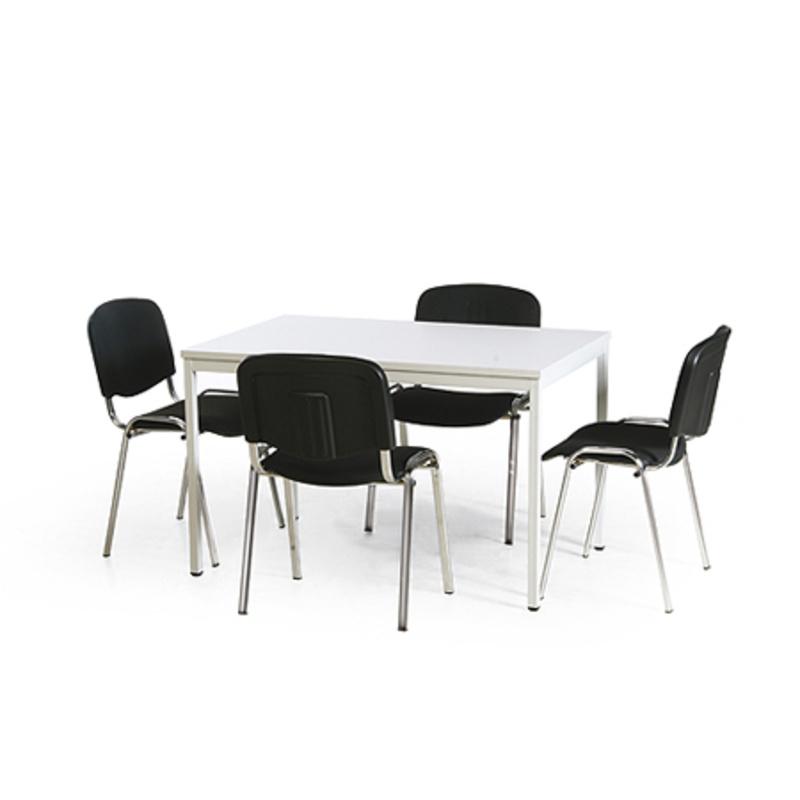 konferenz tisch stuhl kombination 1 eckiger tisch 1200x800 mm 4 st hle. Black Bedroom Furniture Sets. Home Design Ideas