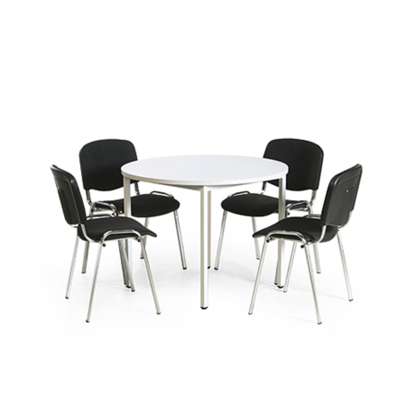 konferenz tisch stuhl kombination 1 runder tisch 1000. Black Bedroom Furniture Sets. Home Design Ideas